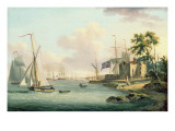 A View of the Royal Yacht Squadron, Isle of Wight Giclee Print by  Serres