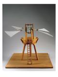 Model Reconstruction of Da Vinci's Design for a Vertical Ornithopter Premium Giclee Print by  Leonardo da Vinci