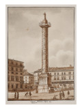 The Colonna Antonina, Restored by Sixtus V, 1833 Giclee Print by Agostino Tofanelli