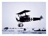 Captain Baron Von Richthofen Landing His Fokker Triplane Premium Giclee Print by  German photographer