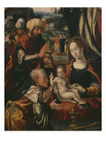 Adoration of the Magi, Epiphany Triptych, Detail, C.1540 Giclee Print by Pieter Coecke van Aelst