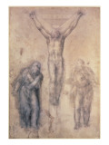 Inv.1895-9-15-509 Recto W.81 Study for a Crucifixion Giclee Print by  Michelangelo Buonarroti