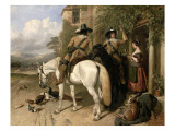 Cavaliers Taking Refreshments Outside an Inn Giclee Print by John Frederick Herring Snr