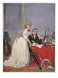 Lavoisier and His Wife, Copy by Boris Mestchersky Giclee Print by Jacques-Louis David