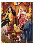 Columbus Presenting to Queen Isabella of Spain and Her Husband Giclee Print by Mcbride 