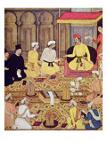 Jesuits at the Court of an Indian Prince Giclee Print by  Indian School