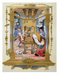 Interior of a 16th Century Printing Works, Copy of a Miniature Giclee Print by  French School
