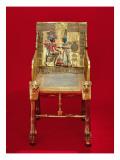 The Throne, from the Tomb of Tutankhamun Reproduction procédé giclée par Egyptian 18th Dynasty