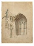 Melrose Abbey: the East Window, C.1770S Giclee Print by Thomas Girtin