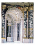Interior of the Kunsthistorisches Museum in Vienna, Detail Depicting Archway Reproduction procédé giclée par Gustav Klimt