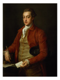 Portrait of the Hon. Lionel Damer Gicle-tryk af Pompeo Batoni