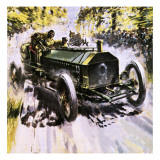 Selwyn Edge Thundering to Victory in the Gordon Bennett Race Giclee Print by Graham Coton
