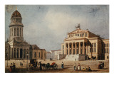 The Royal Theatre and the New Church, 1833 Giclee Print by  German School