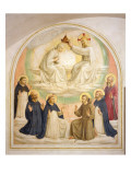 The Coronation of the Virgin, with Saints Gicl&#233;e-Druck von Fra Angelico 