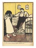 A Man Reproaches His Pregnant Mistress Giclee Print by Félix Vallotton