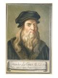 Portrait of Leonardo Da Vinci, 1789 Giclee Print by Carlo Lasinio