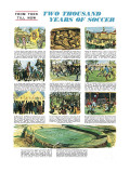 Two Thousand Years of Soccer Reproduction procédé giclée par English School