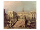 View of Piazza Del Campidoglio and Cordonata, Rome Giclee Print by  Canaletto