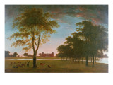 Osterley House and Park at Evening Giclee Print by William Hannan