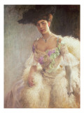 Portrait of a Lady in Evening Dress, 1903 Giclee Print by Hugo-Elias Bachmanssen