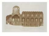 Cross-Section of the Palatine Chapel, Palermo, Sicily Giclee Print by  French School