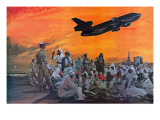 Muslem Pilgrims in the Middle East Flying to Mecca by Douglas Dc-10 Giclee Print by Graham Coton