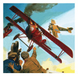 Filming of Howard Hughes' Film 'Hell's Angels' Giclee Print by  English School