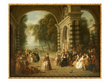 The Pleasure of the Ball, after Watteau Reproduction procédé giclée par Jean-Baptiste Pater