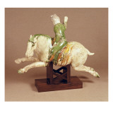 T&#39;Ang Pottery Figure of Mounted Polo Player Giclee Print