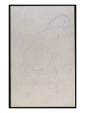 Woman Leaning to the Right with Long Hair, C.1910-11 Giclee Print by Gustav Klimt