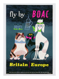 Poster Advertising British Overseas Airways, C.1962 Giclee Print by  English School