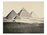 The Pyramids of El-Geezeh from the South West, 1858 Giclee Print by Francis Frith
