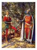 Robin Hood and Richard the Lionheart Reproduction procédé giclée par John Millar Watt