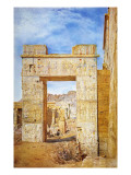 The Gateway of Philadelphus, Philae, Egypt, 1890 Giclee Print by Henry Roderick Newman
