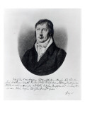 Georg Wilhelm Friedrich Hegel, Engraved by F.W Bollinger, C.1825 Giclee Print by Johann Christian Xeller