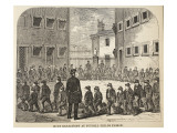 Boys Exercising at Tothill Fields Prison Giclee Print by  English School