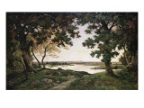 Wooded Landscape with a Sandy River, 1882 Giclee Print by Henri-Joseph Harpignies