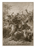 The Volunteer Cavalry Charged Them and Cleared the Way Giclee Print by Stanley L. Wood