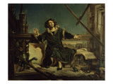 Copernicus in the Tower at Frombork Premium Giclee Print by Jan Matejko