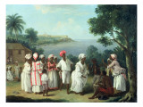 A Negroes' Dance on the Island of Dominica Giclee Print by Agostino Brunias