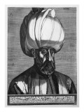 Suleiman the Magnificent, Engraved in Constantinople, 1559 Giclee Print by Melchior Lorck