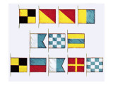 Signal Flags, Spelling Look and Learn Giclee Print by Escott