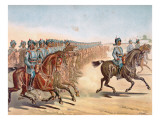 The 3rd Madras Light Cavalry, Review Order, Anglo-Indian Army of the 1880S Giclee Print by Richard Simkin
