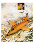 Chuck Yeager Travelling Faster Than Sound Giclee Print by Leo Davy