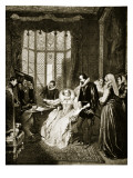 Elizabeth Hears of the Babington Plot Giclee Print by Arthur William Devis