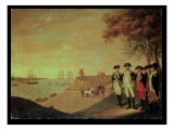 Washington and Generals at Yorktown Premium Giclee Print by James Peale