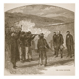 The Goliad Massacre, from a Book Pub. 1896 Reproduction proc&#233;d&#233; gicl&#233;e par Alfred Rudolf Waud