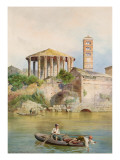 View of the Sbocco Della Cloaca Massima, Rome Giclee Print by Ettore Roesler Franz