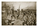 The Battle of Blenheim: Storming the Village Premium Giclee Print by Richard Caton Woodville II