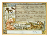 The Three Ravens: Design for a Song Book Premium Giclee Print by Walter Crane